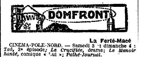 1923 : film à Domfront
