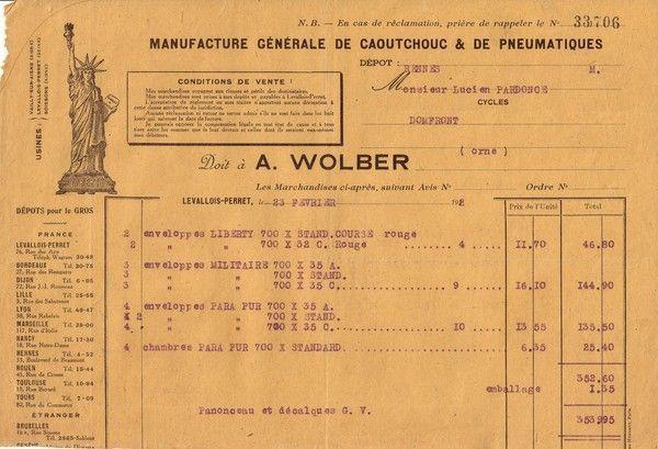 1922 : Antoine Wolber