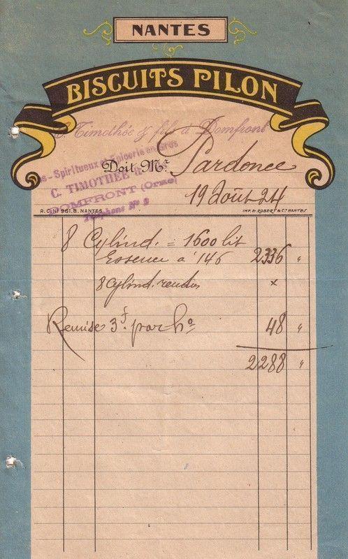 1925 : biscuiterie Pilon