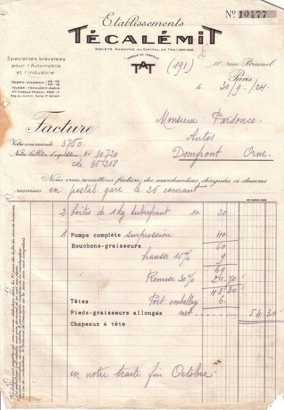1924 : Técalémit