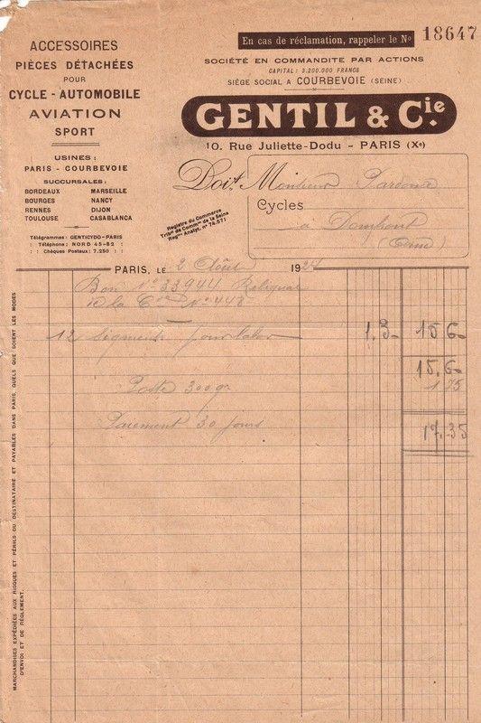 1924 : Gentil et Cie