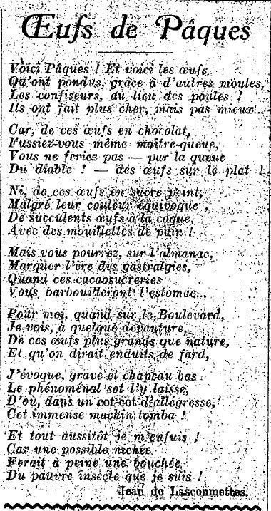 1924 : Pâques