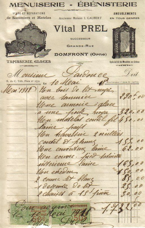 1918 achat de meubles et literie - Achat des meubles ...