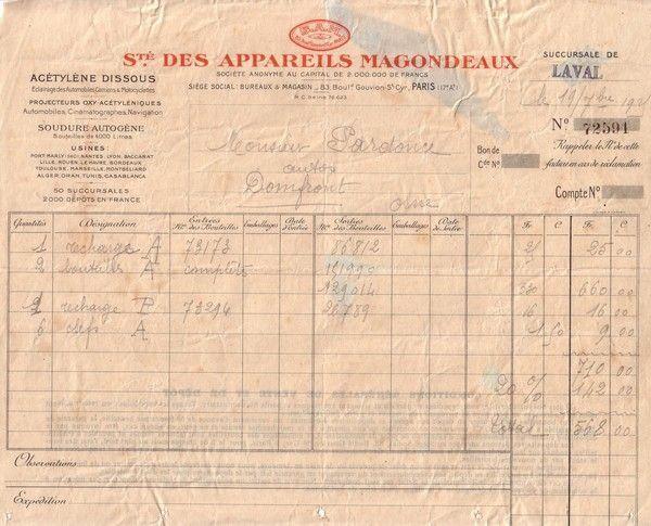 1925 : projecteur oxy-acétylénique