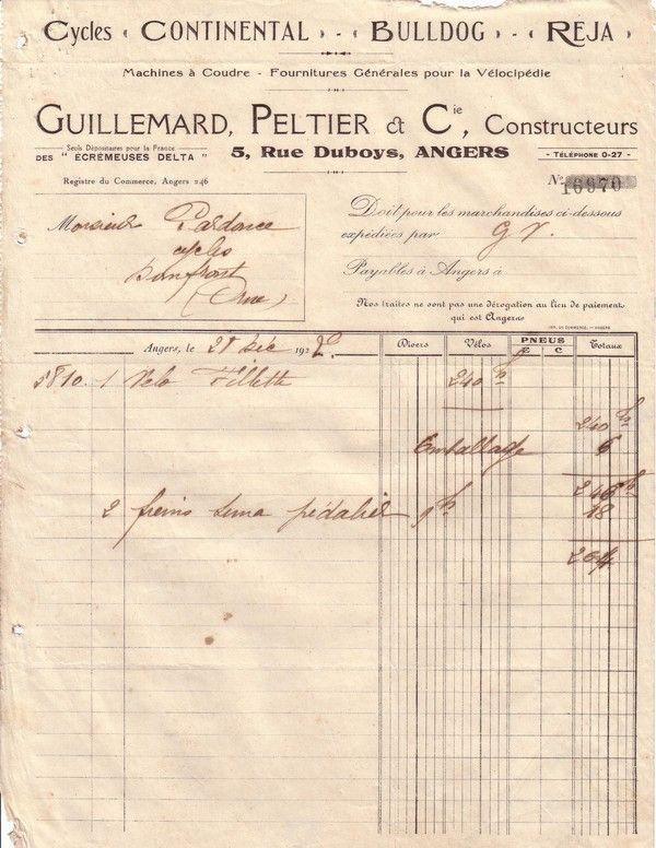 1922 : vélo fillette