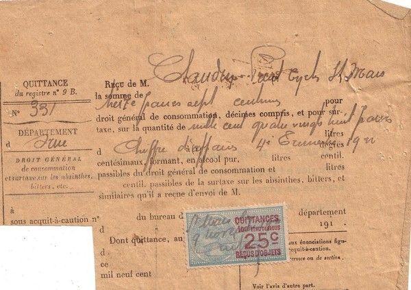 1922 : taxe sur le chiffre d'affaires