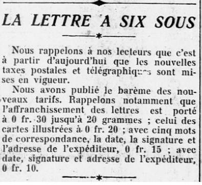 16 juillet 1925 : timbres-poste