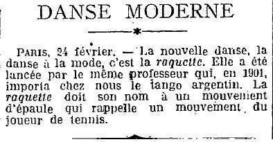 1925 : la raquette