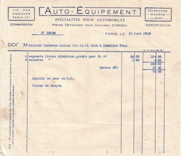 1925 : Auto-Equipement : Citroën