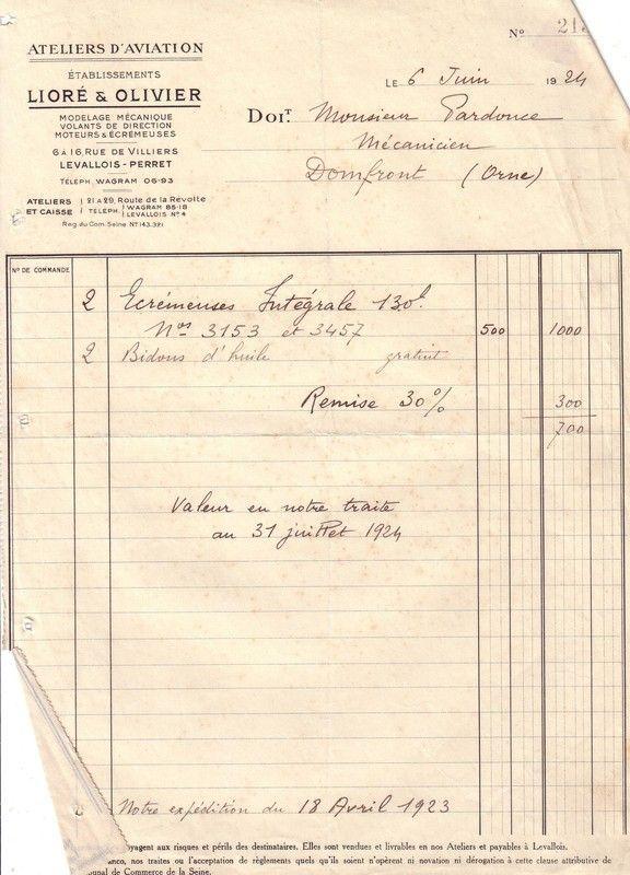 1924 : Lioré et Olivier