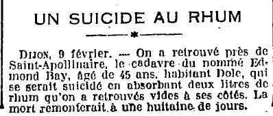 1925 : suicide au rhum