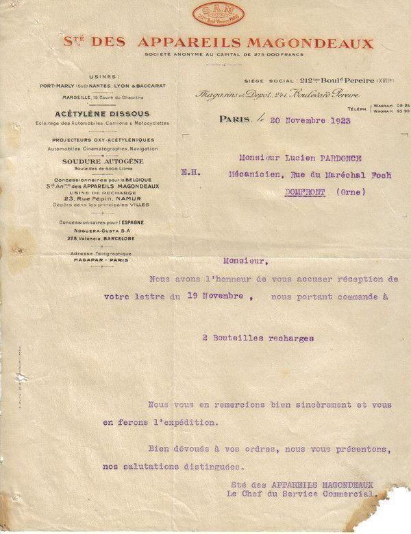 1923 : Magondeaux