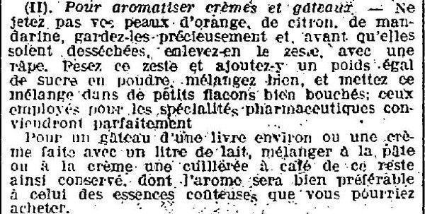 1923 : cuisine
