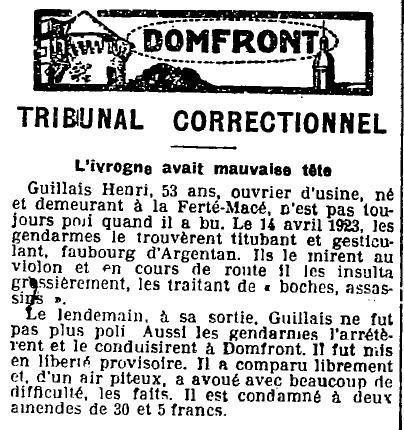 1923 : ivrogne