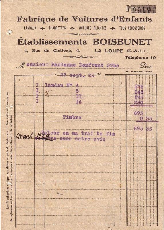 1923 : charrette
