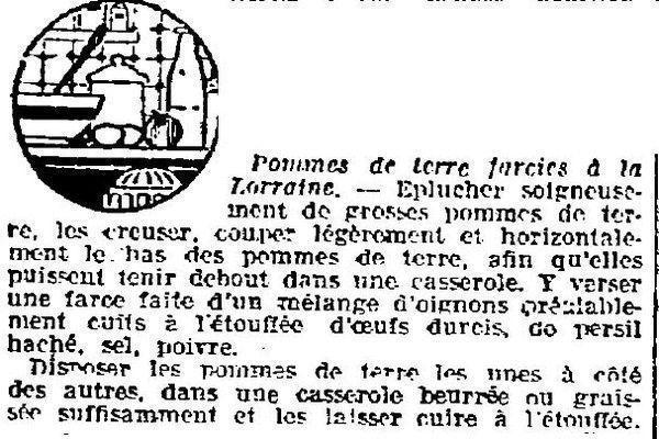 1924 : pomme de terre