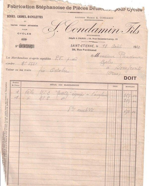 1922 : Condamin