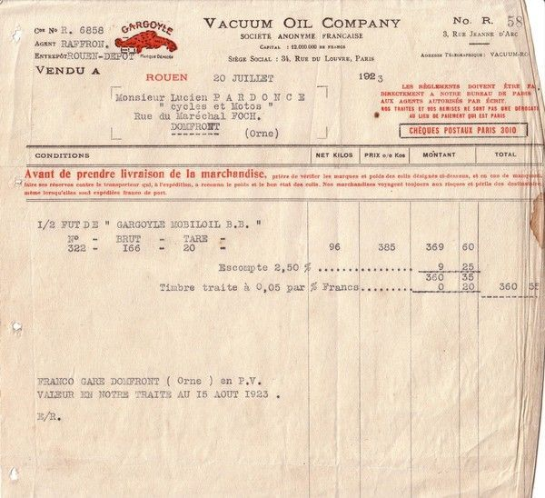 1923 : Vacuum Oil Company (suite)
