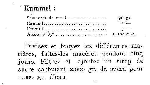 1925 : liqueurs de table
