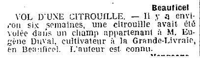 1924 : vol de citrouille