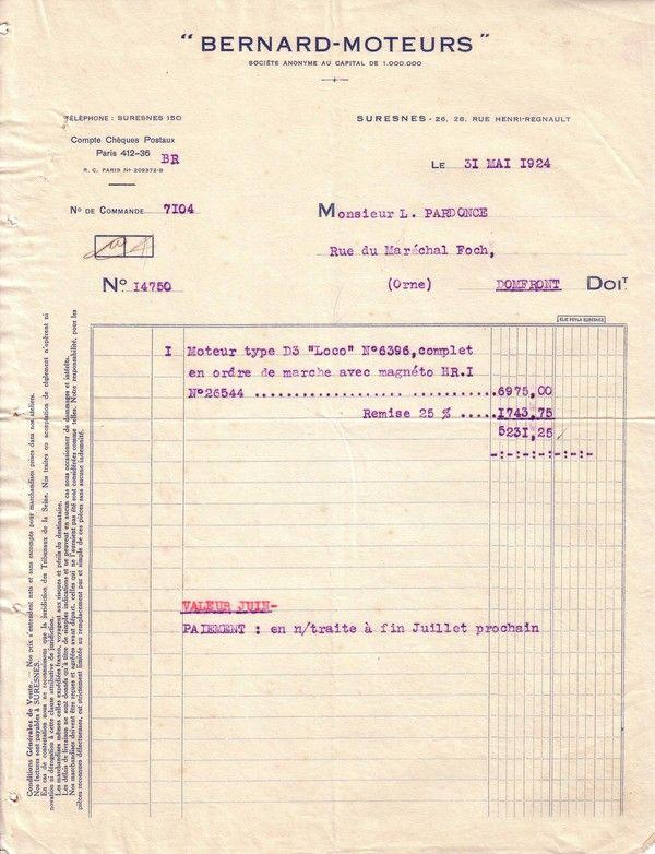 1924 : Bernard-Moteurs