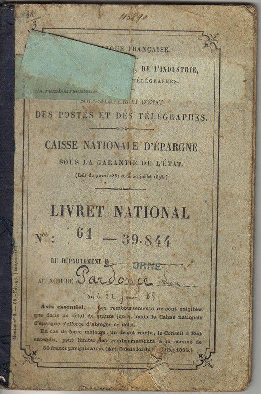 1906 - Livret jeune plafond caisse d epargne ...