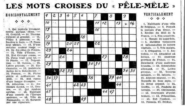 1925 mots croisés