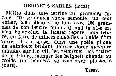 1923 : beignets