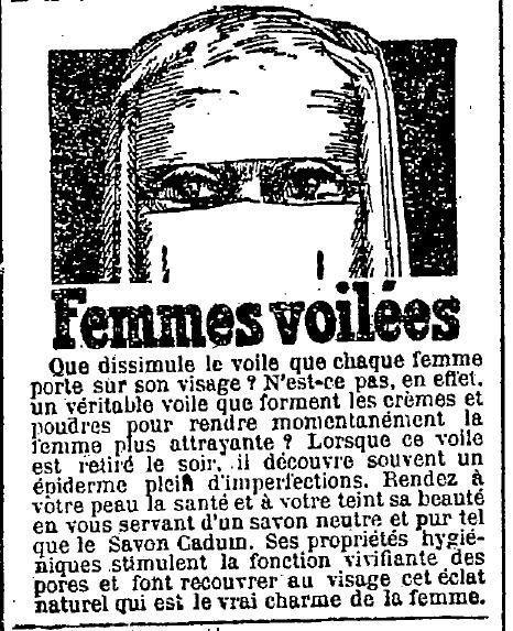 1925 : publicité Cadum