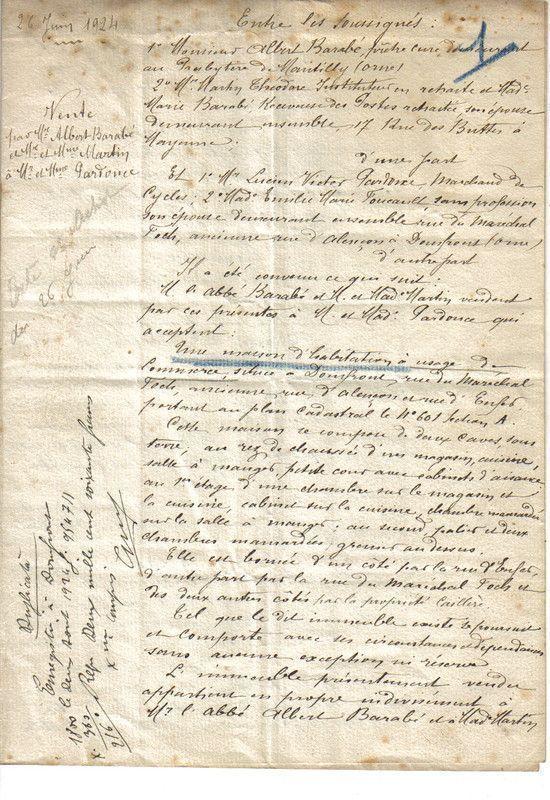 1924 : achat de la maison