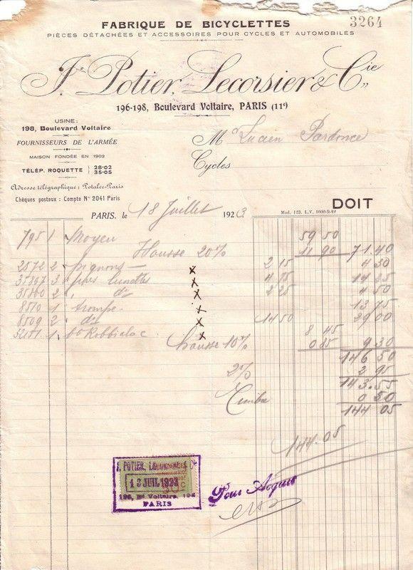 1923 : Potier et Lecorsier
