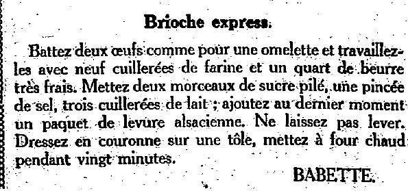 2 decembre 1923 : cuisine