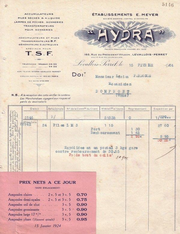 """1924 : ampoule """"oeil de chat"""""""