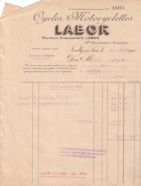 1924 : Labor