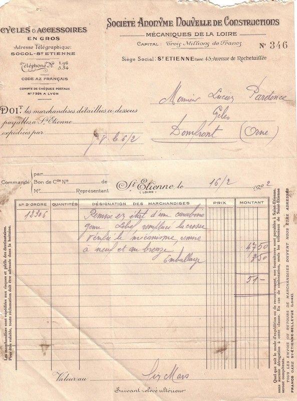 1922 : carabine Lebel