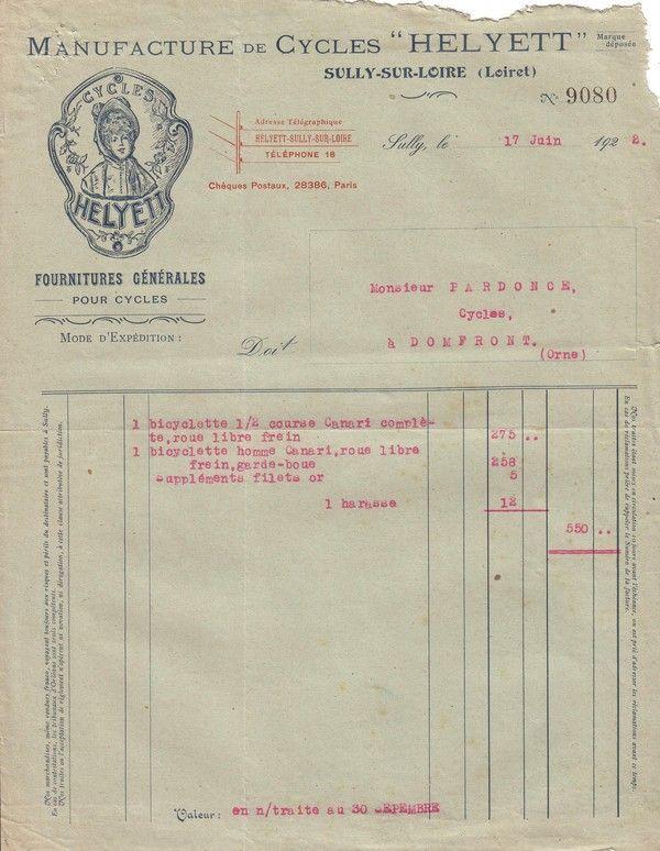 1922 : cycles Helyett ( suite )