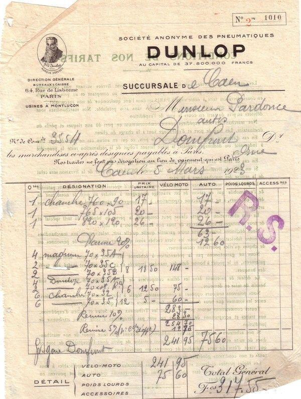 1923 : Dunlop