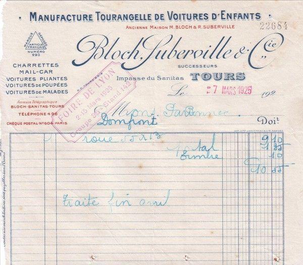 1925 : Manufacture Tourangelle de Voitures d'Enfants