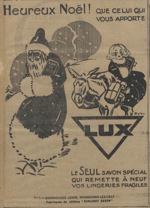 1924 : publicité savon Lux 1924