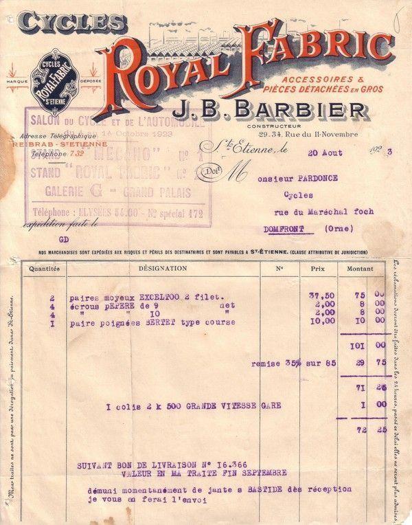 1923 : moyeux Exceltoo