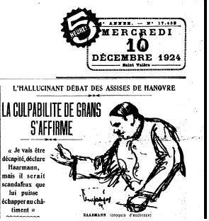 1924 : Haarmann, le boucher de Hanovre