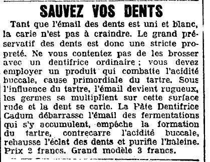 1924 : une histoire de dents