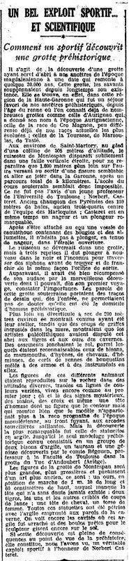 1924 : grotte de Montespan