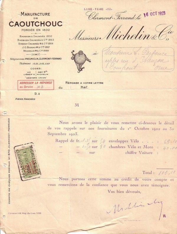 1923 : Michelin : concours de la natalité