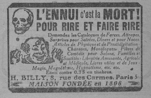 1924 : réclames