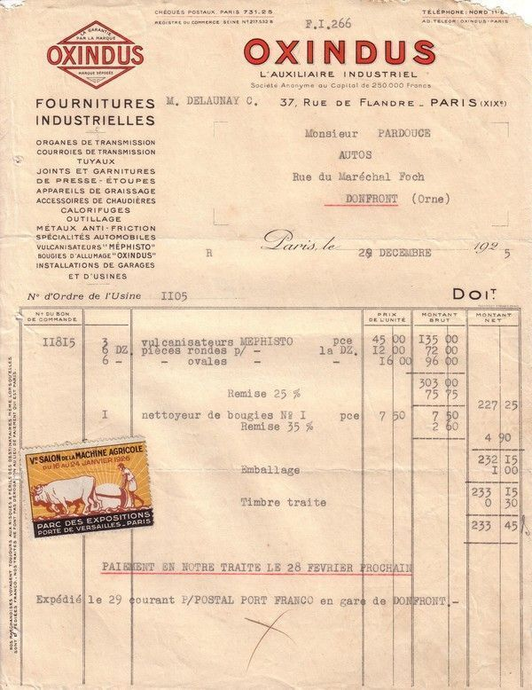 1925 : vulcanisateur