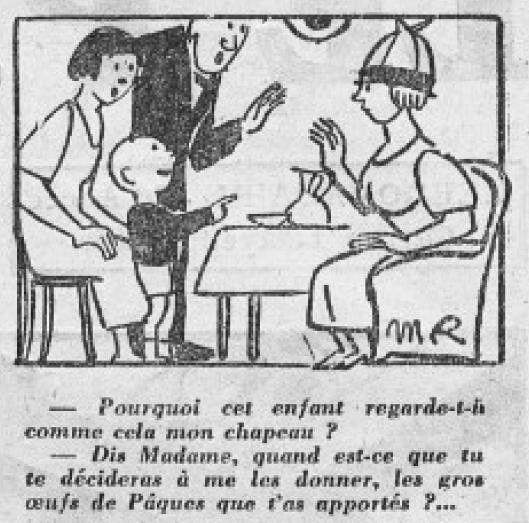 1925 : humour de Pâques