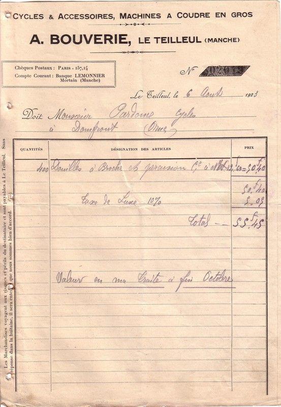 1923 : douilles à broche