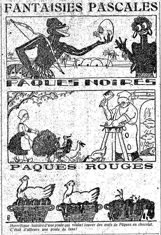1922 : humour de Pâques
