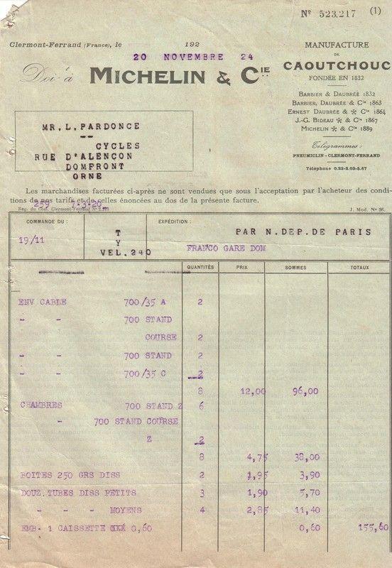 1924 : publicité Michelin
